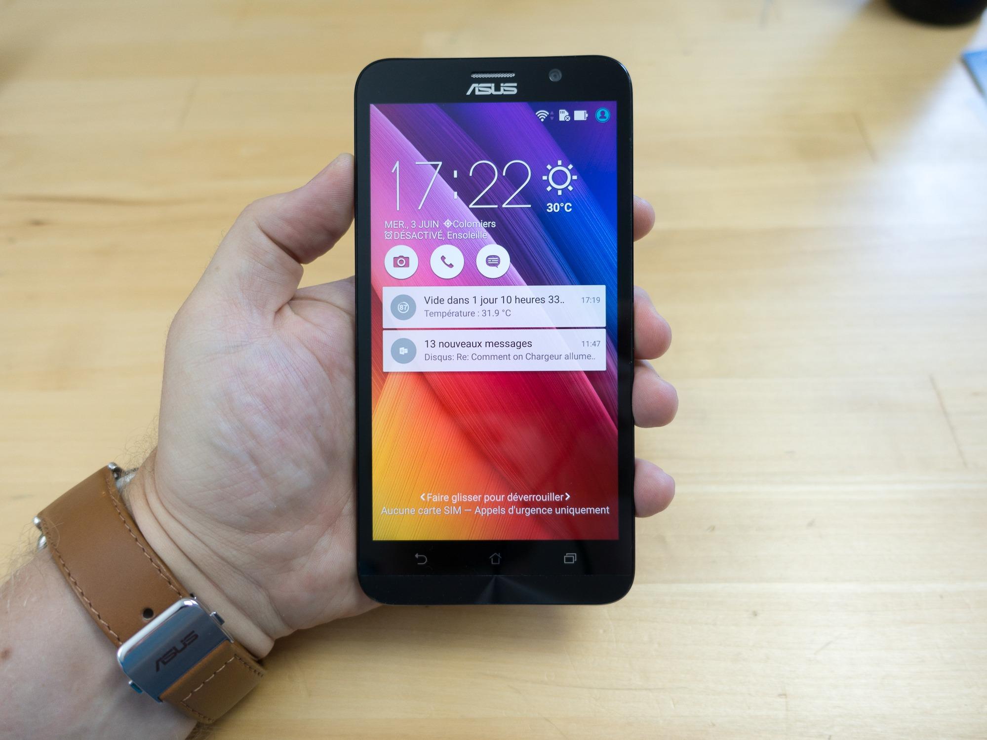 Asus Zenfone 2 : un très bon smartphone milieu de gamme qui chatouille le haut de gamme