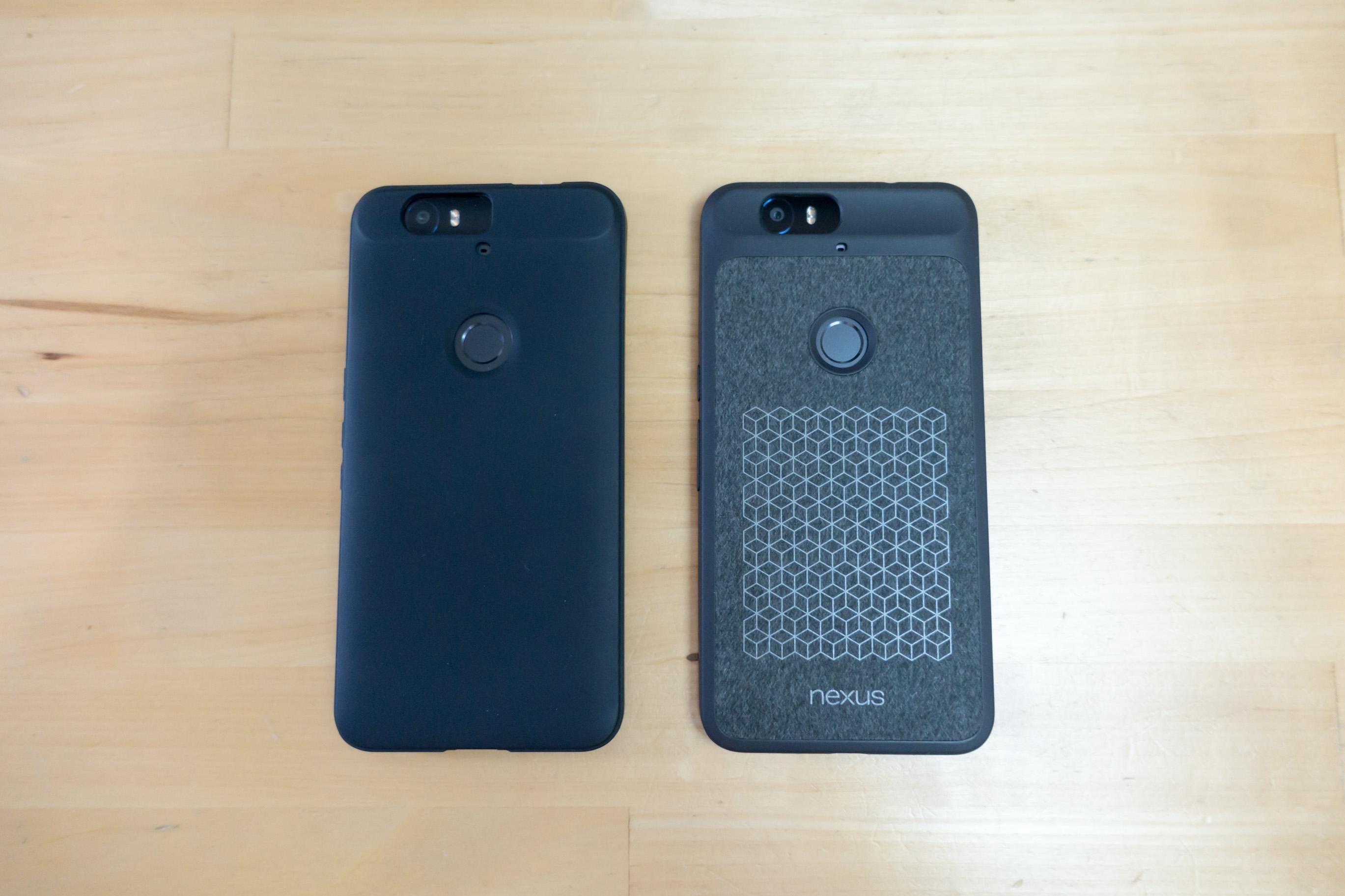 Coque Diztronic vs coque officielle pour Nexus 6P