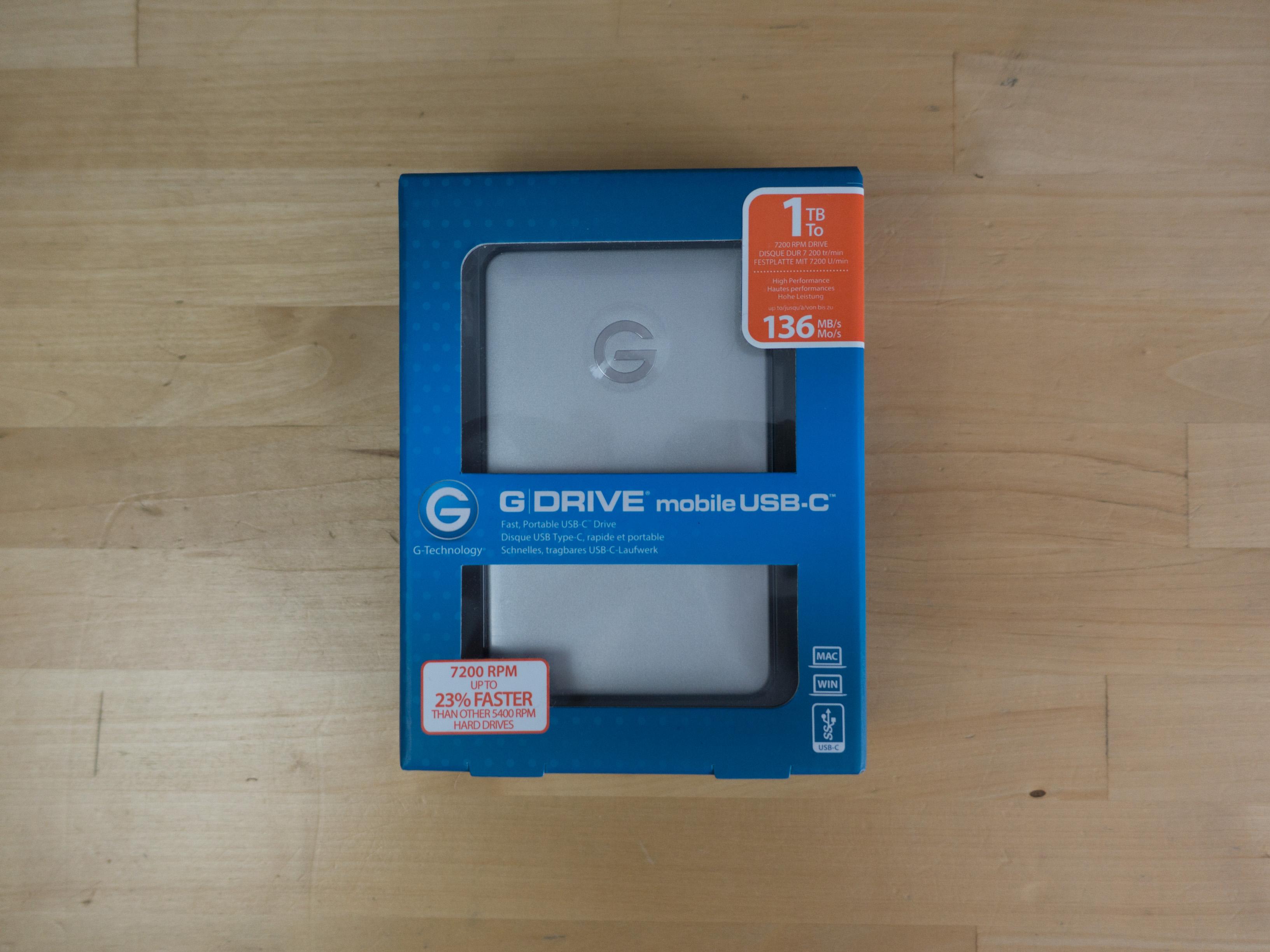 G-Drive Mobile : un des premiers disques durs USB-C
