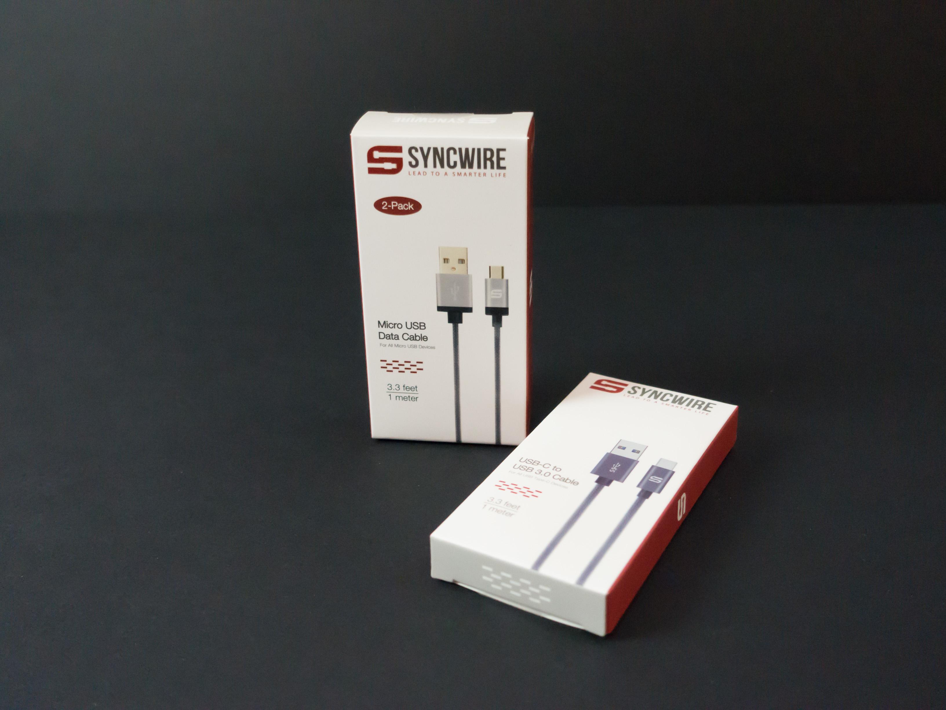 J'ai testé pour vous les cables Syncwire microUSB & USB C !