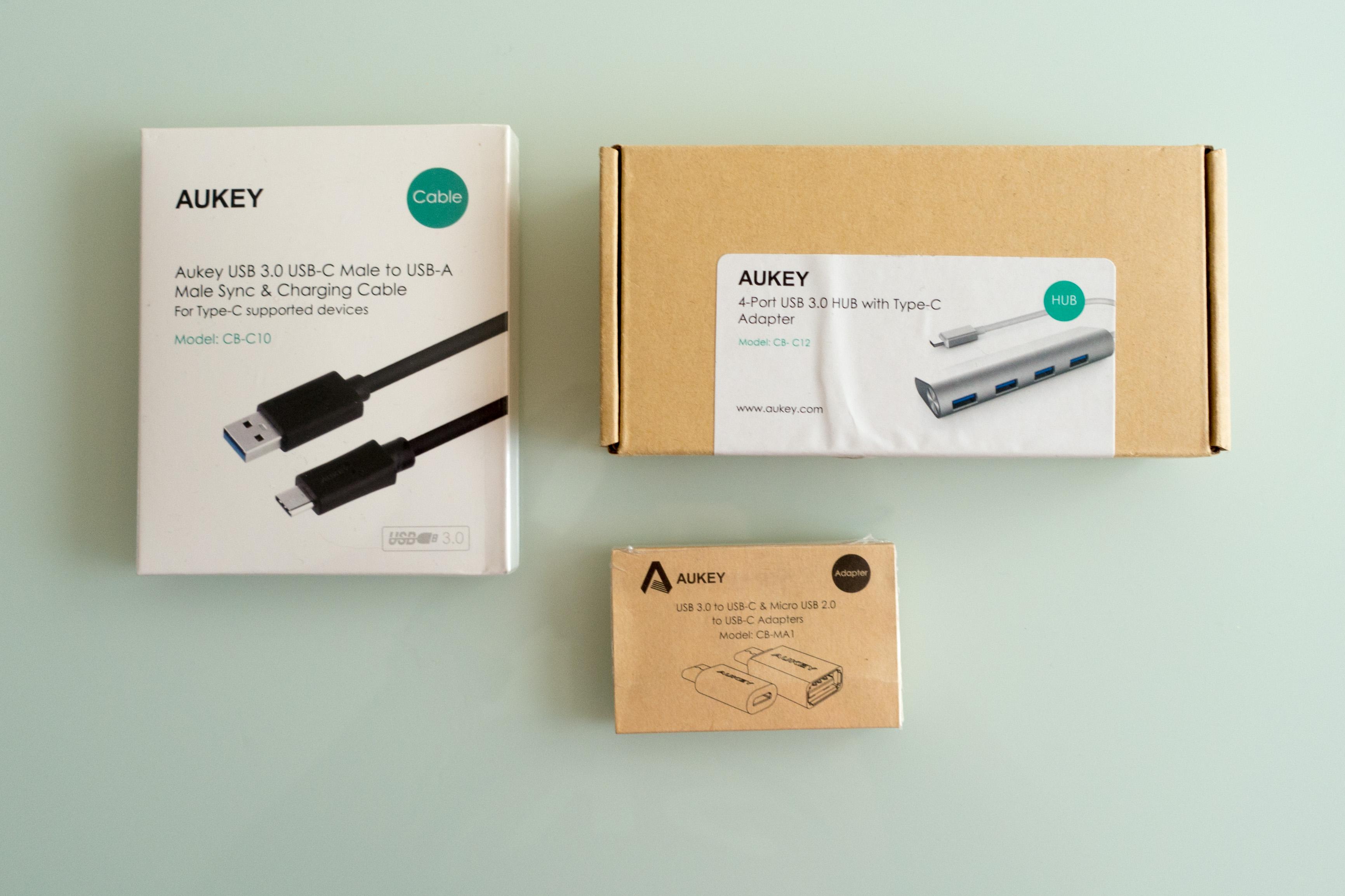 Quelques accessoires USB-C Aukey pour votre Macbook