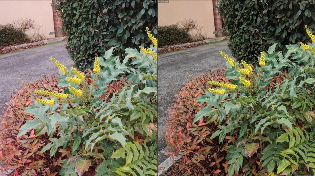 LG V30 à gauche, Pixel 2 à droite