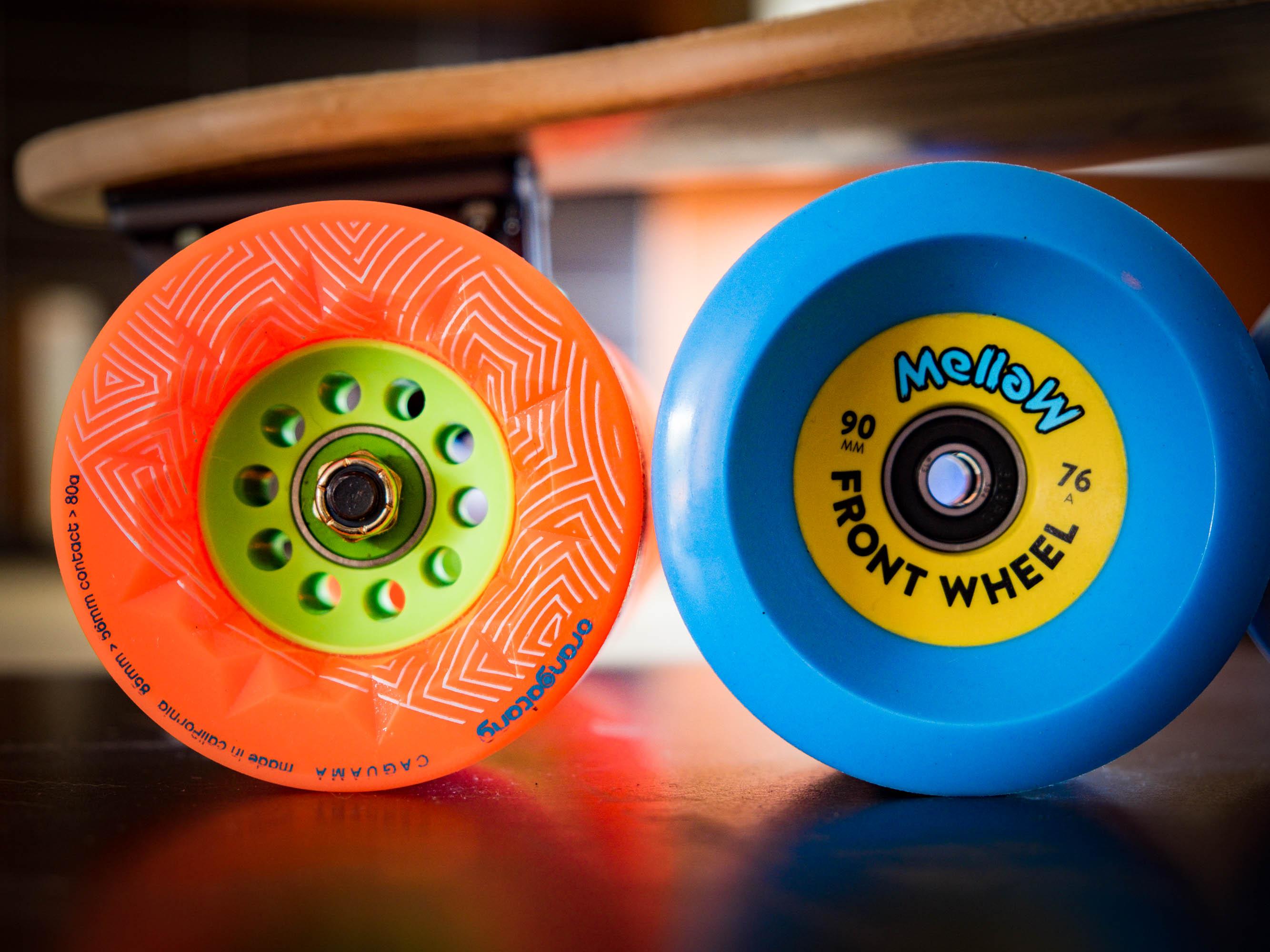 roues 90mm pour Mellowboards