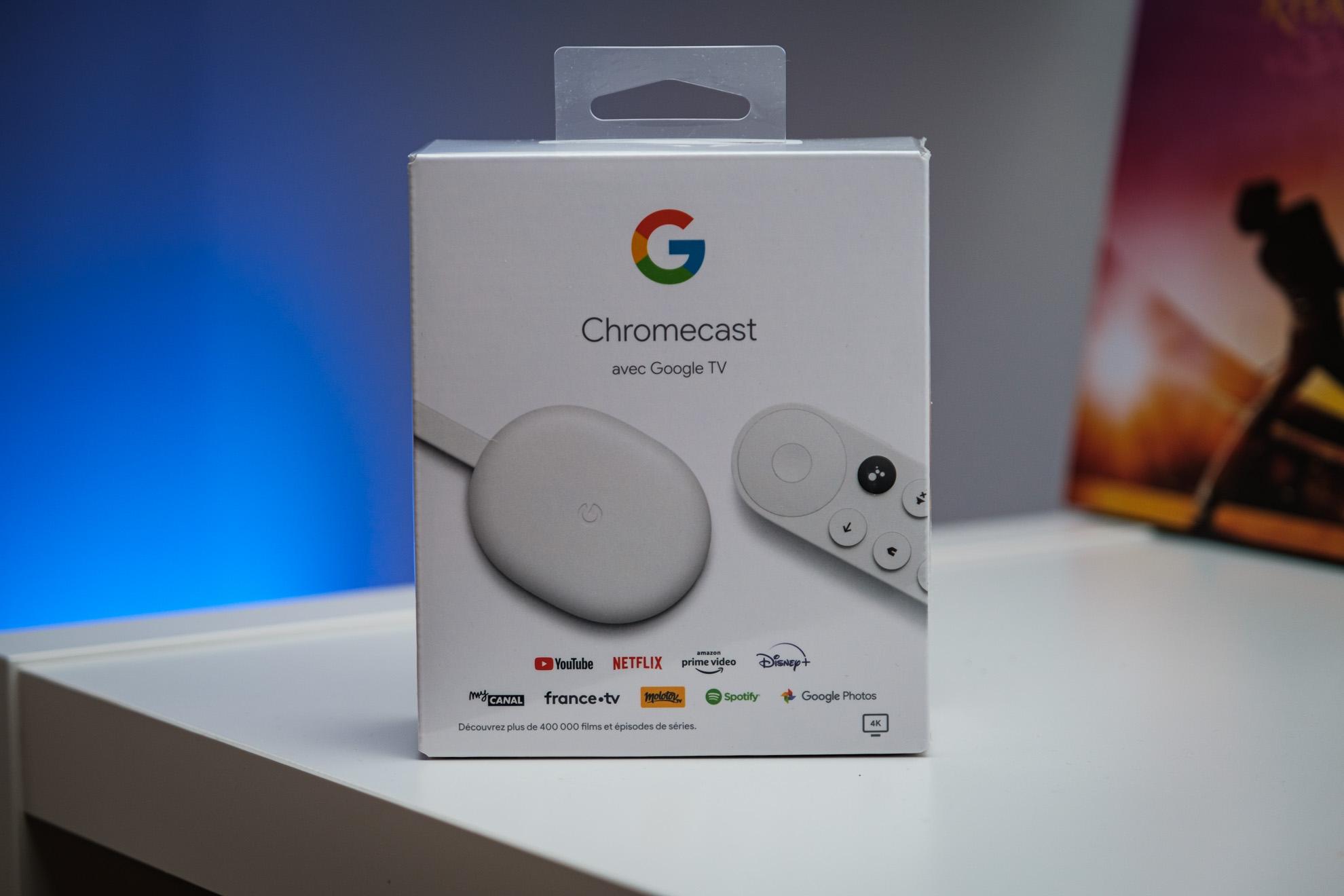 Chromecast avec Google TV : déballage
