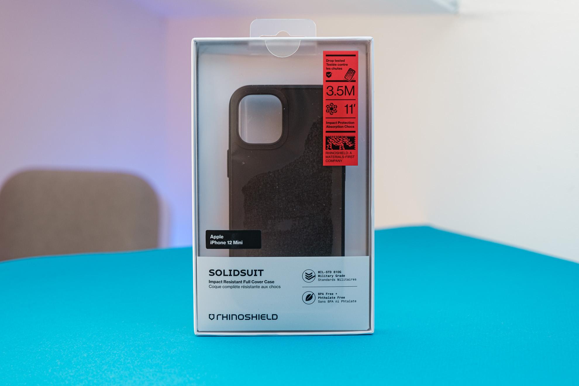 Rhinoshield Solidsuit pour iPhone 12 mini: mon avis