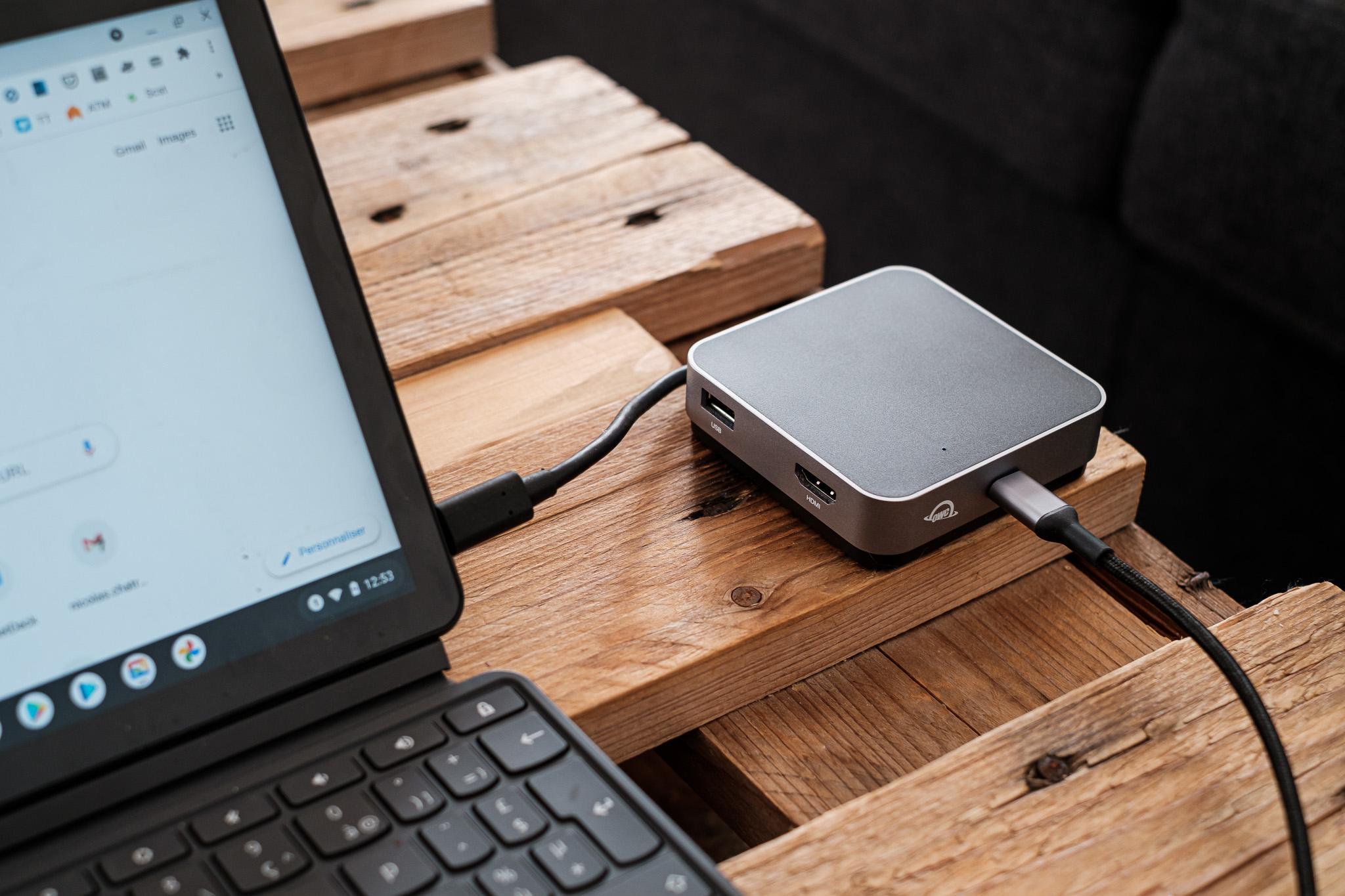 OWC Travel Hub : un dock USB-C compact pour le voyage !
